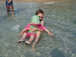Ava and Iona at the water park